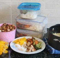 עצלני בשלני – שיטת הבישול העיוור – ירקות במרינדה, קוביות טופו, קינואה ואורז