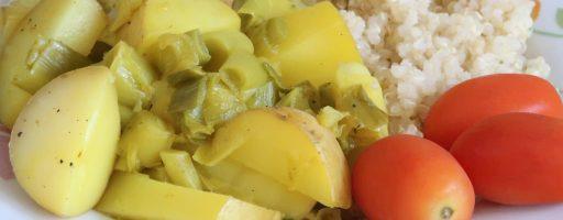 תבשיל תפוחי אדמה וכרישה