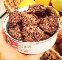עוגיות שיבולת שועל ופודינג שוקולד