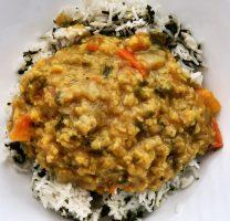 מונג דאל ואורז עם תרד